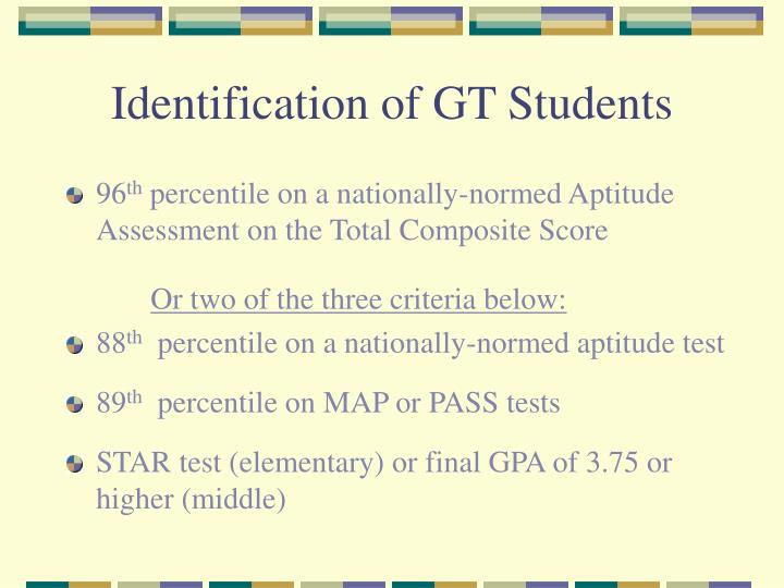 Identification of GT Students