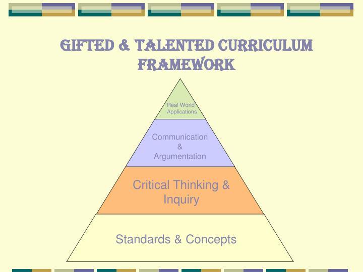 Gifted & Talented Curriculum Framework