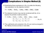 complications in simplex method 9