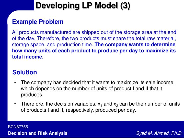 Developing LP Model (3)