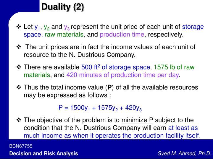 Duality (2)