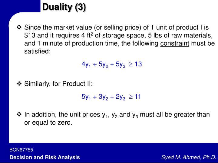 Duality (3)