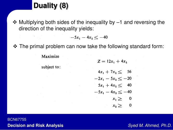 Duality (8)