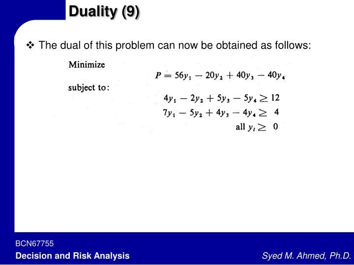 Duality (9)