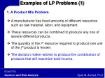 examples of lp problems 1