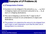 examples of lp problems 4