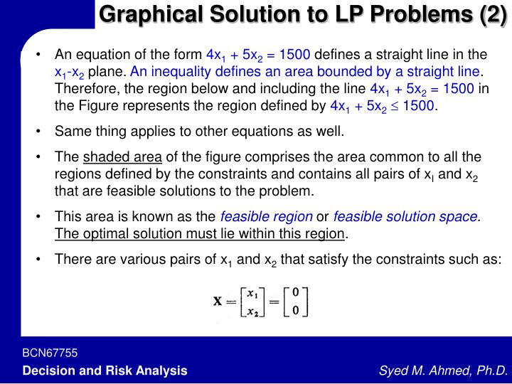 Graphical Solution to LP Problems (2)