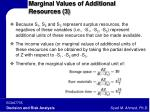 marginal values of additional resources 3
