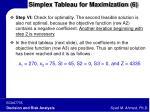 simplex tableau for maximization 6