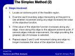 the simplex method 2