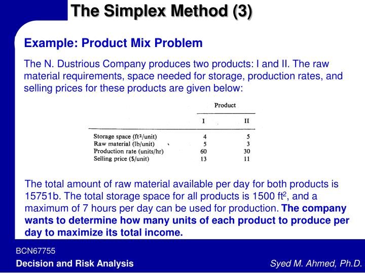 The Simplex Method (3)