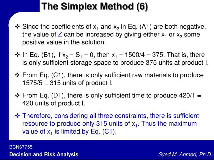 The Simplex Method (6)