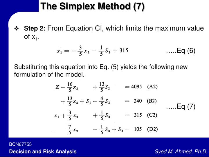 The Simplex Method (7)