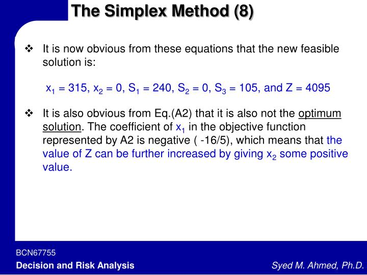The Simplex Method (8)