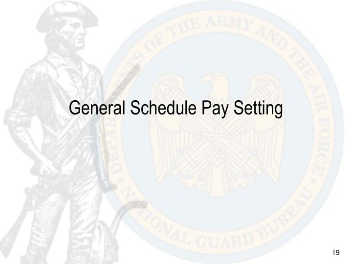 General Schedule Pay Setting