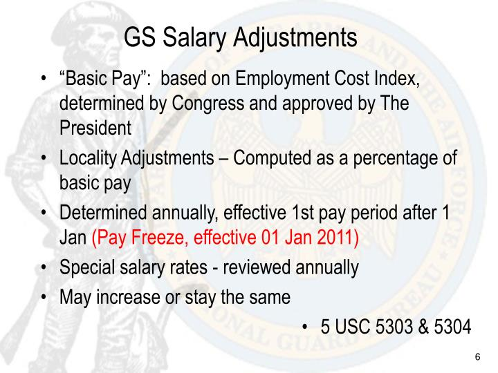 GS Salary Adjustments