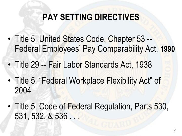 Pay setting directives
