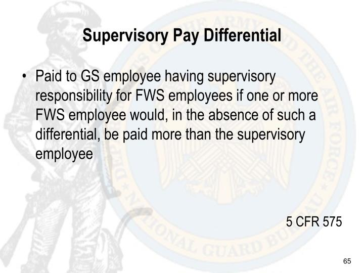 Supervisory Pay Differential