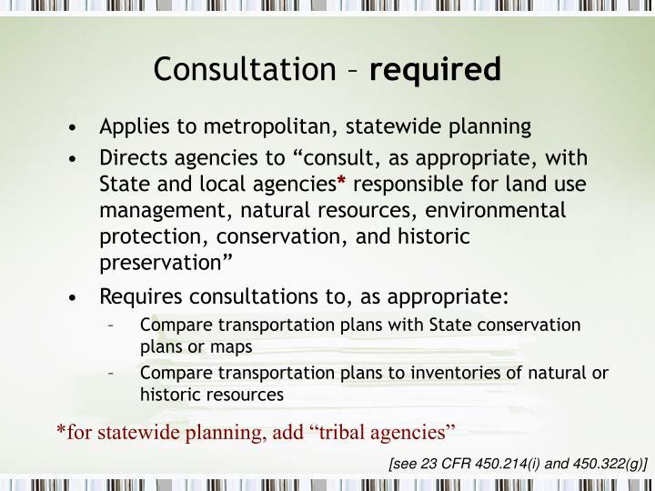 Consultation –