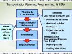 transportation planning programming nepa