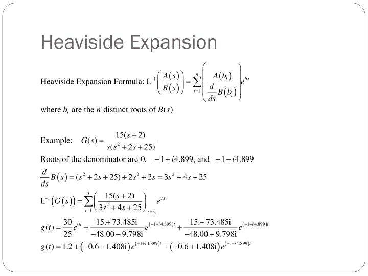Heaviside Expansion
