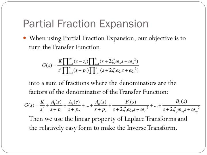 Partial Fraction Expansion