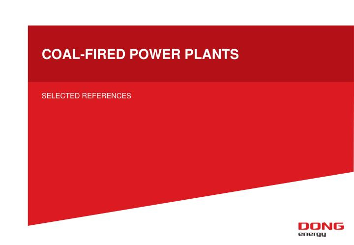 Coal fired power plants