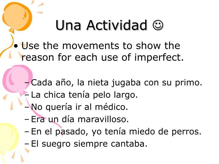 Una Actividad