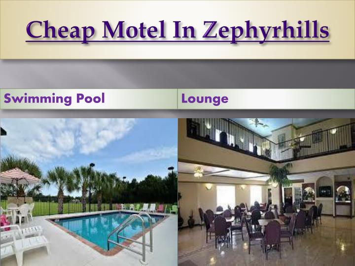 Cheap Motel In Zephyrhills