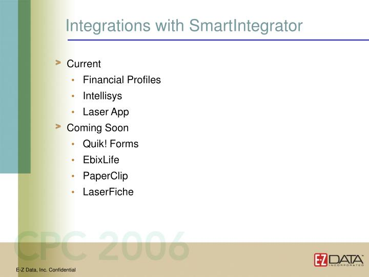 Integrations with SmartIntegrator