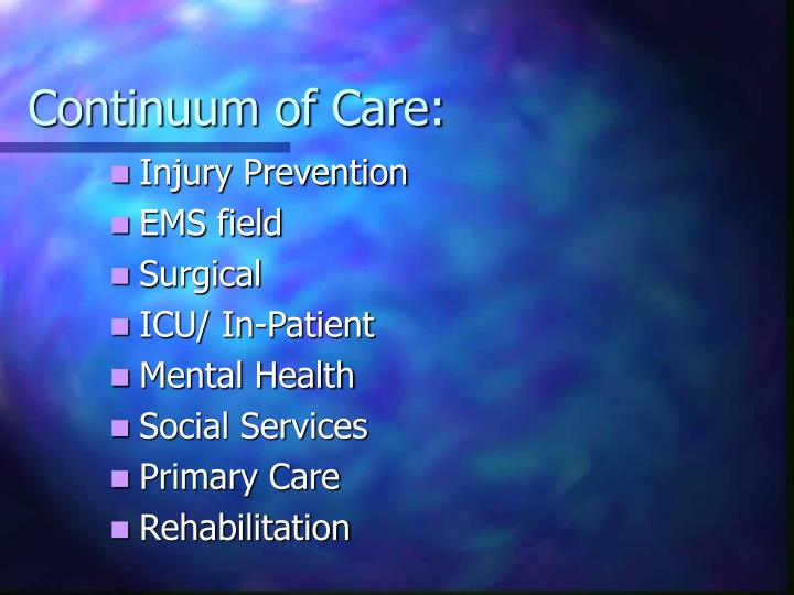 Continuum of Care:
