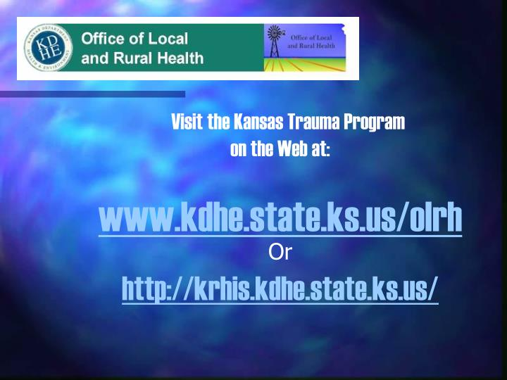 Visit the Kansas Trauma Program