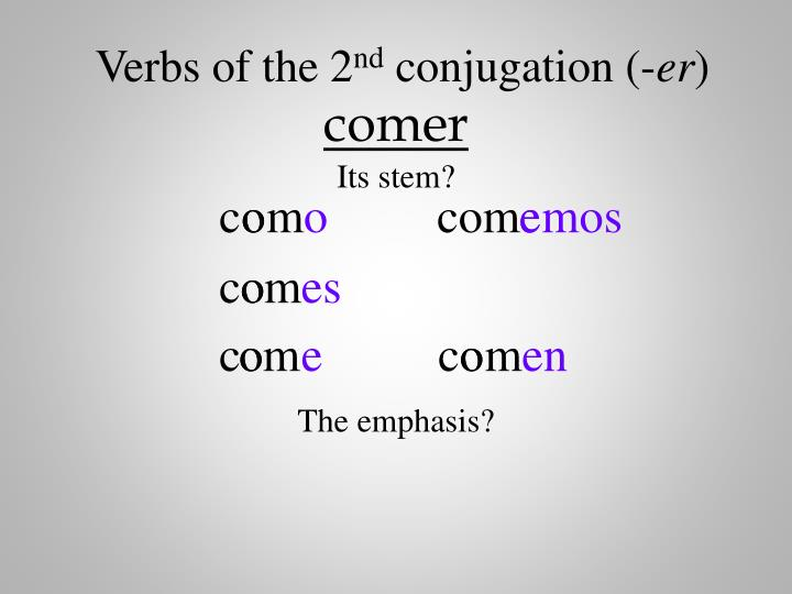Verbs of the 2