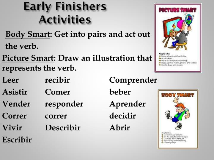 Early Finishers Activities