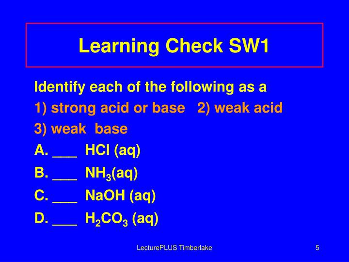 Learning Check SW1