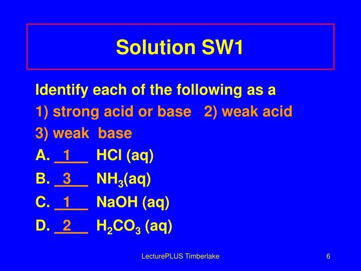 Solution SW1