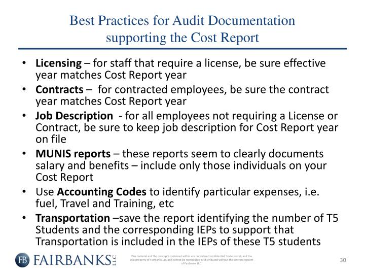 Best Practices for Audit Documentation