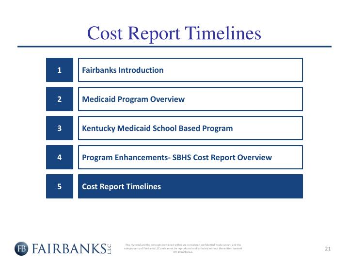 Cost Report Timelines