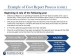 example of cost report process cont1