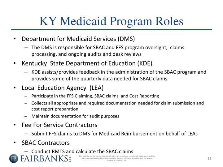 KY Medicaid Program Roles