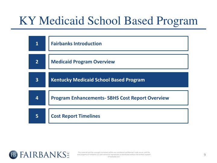 KY Medicaid School Based Program