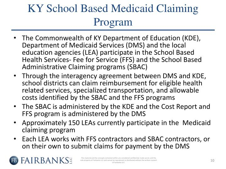 KY School Based Medicaid Claiming Program