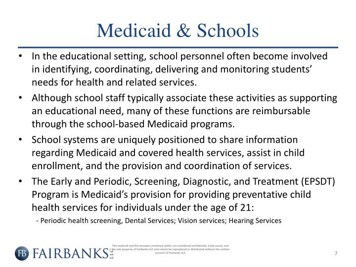 Medicaid & Schools
