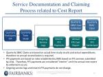service documentation and claiming process related to cost report