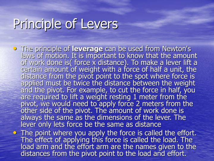 Principle of Levers