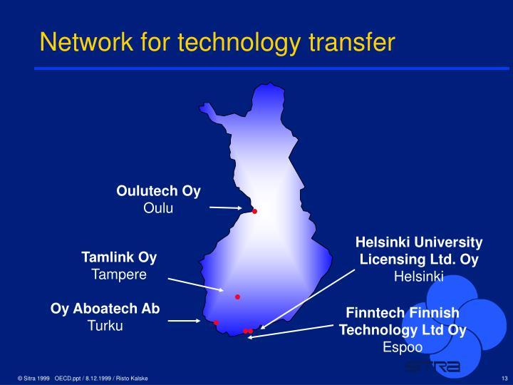 Network for technology transfer