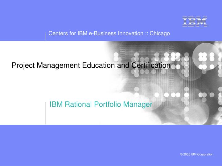 Project Management Education and Certification
