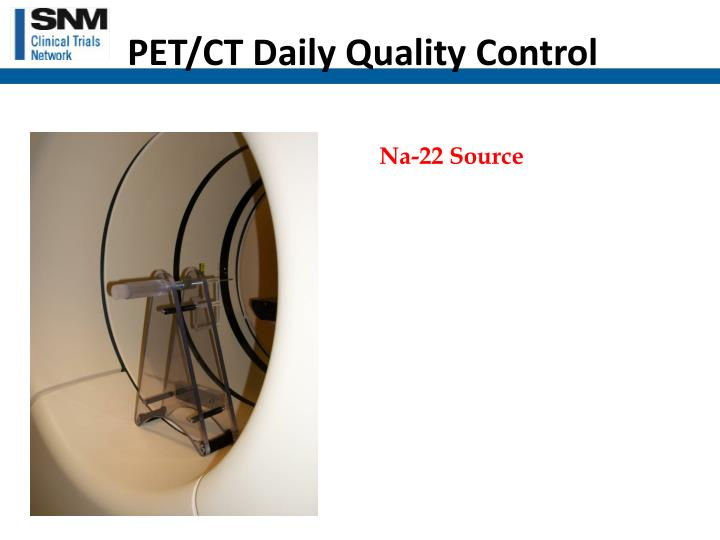 PET/CT Daily Quality Control