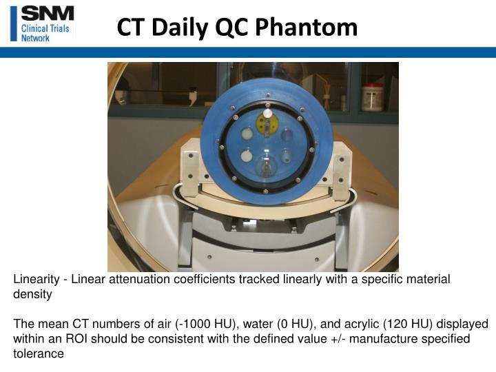 CT Daily QC Phantom