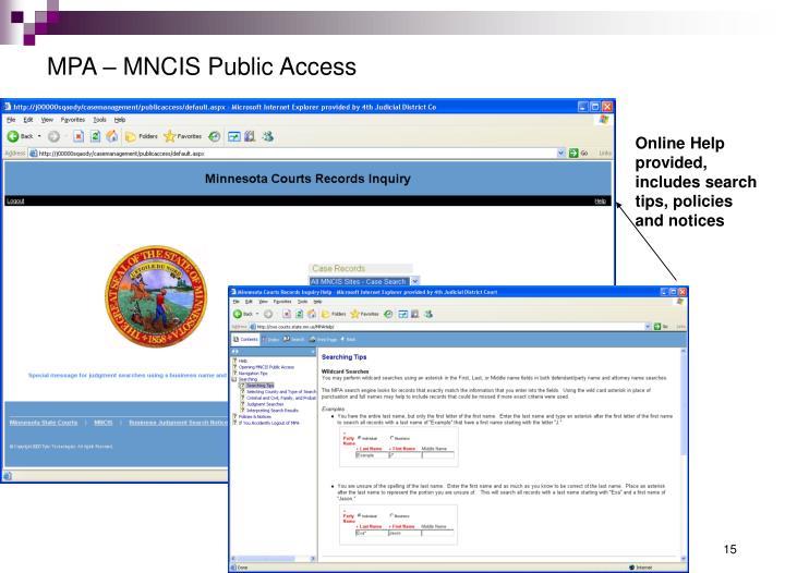 MPA – MNCIS Public Access